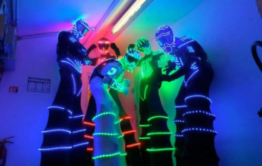 echassier lumineux robots led